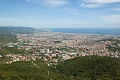 barcelona panorama spain Royaltyfria Bilder