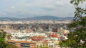 Barcelona Panorama, Spain, Viewpoint, Europe stock footage