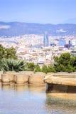 Barcelona panorama z Agbar wierza, Catalonia, Hiszpania Fotografia Stock