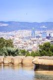 Barcelona panorama z Agbar wierza, Catalonia, Hiszpania Zdjęcia Royalty Free