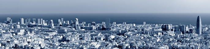 barcelona panoramahorisont Royaltyfri Foto