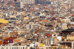Barcelona Panoramic View Royalty Free Stock Photo