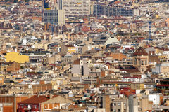 Barcelona Panoramic View Stock Image