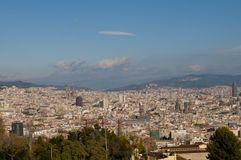 Barcelona Panoramic View Royalty Free Stock Images