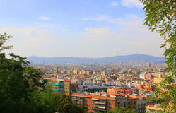 Barcelona. Panoramic view of Barcelona royalty free stock images