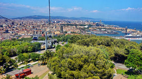 Barcelona Spain. Aerial view of Barcelona in Spain royalty free stock photography