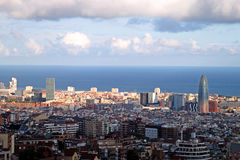 Barcelona panoramic view Stock Photo