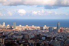 Barcelona panoramic view. Panoramic view of Barcelona, Spain Stock Photo