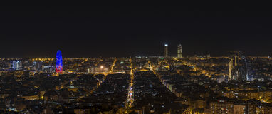 Barcelona panoramic views Royalty Free Stock Photo
