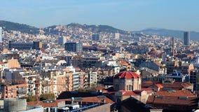 barcelona panoramiczny widok Obraz Royalty Free