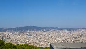 Barcelona-panoramische Ansicht Lizenzfreie Stockbilder