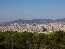 Barcelona-panoramische Ansicht Lizenzfreie Stockfotografie