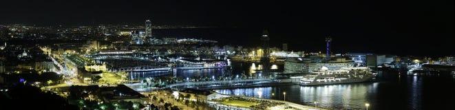 Barcelona-panoramische Ansicht Lizenzfreies Stockfoto