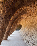 Barcelona parc guell. Stone structures in gaudis parc guell, barcelona Royalty Free Stock Photo