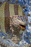 Barcelona Parc Guell. Mosaic fountain in Parc Guell, Barcelona royalty free stock images