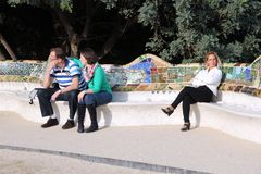 Barcelona Parc Guell Stock Image