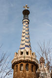 Barcelona, parck Guell by Antoni Gaudi Royalty Free Stock Images
