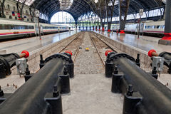 barcelona paris stationsdrev Royaltyfria Foton