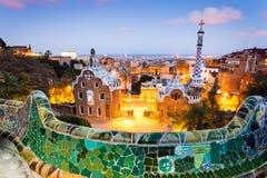 Barcelona, Park Guel details. Barcelona, Park Guell, Spain. details of the modernism park designed by Antonio Gaudi stock photo