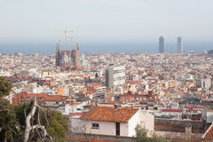 Barcelona from Park guel Stock Images