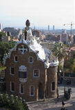 Barcelona - Park Guell. Designed by famous architect Antonio Gaudi royalty free stock photography
