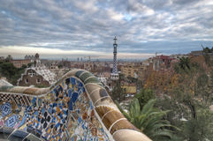 Barcelona from Park Guell stock photo