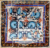 Barcelona - Park Guell. Mosaic decoration in park Guell, de park of Gaudi in Barcelona Royalty Free Stock Photo
