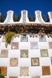 Barcelona Park Guell av Gaudi modernism arkivbild