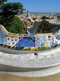 Barcelona: Park Guell, beautiful park by Gaudi. Barcelona: Park Guell, the famous and beautiful park designed by Antoni Gaudi, one of the highlights of the city Royalty Free Stock Photos