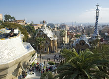 Barcelona. Park Guell in the city Barcelona Royalty Free Stock Photos