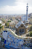 Barcelona. Park Guell in the city Barcelona Stock Image