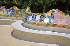Barcelona - Park Guell designed by Antonio Gaudi. Royalty Free Stock Photos