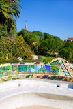 Barcelona Park Guell of Gaudi modernism Stock Photography