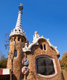 Barcelona Park Guell Gingerbread House of Gaudi Royalty Free Stock Image
