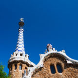 Barcelona Park Guell Gingerbread House of Gaudi Stock Image