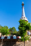 Barcelona Park Guell Gingerbread House of Gaudi Royalty Free Stock Photo