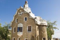 Barcelona Park Guell House built from Antonio Gaudi. Antonio Gaudi's building in Park Guell in Barcelona, Catalania, Spain stock photography