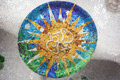 Free Barcelona Park Guell Of Gaudi Mosaic In The Hundred Columns Chamber Stock Photo - 72267890