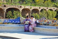 Barcelona. In the Park Guell Stock Photography