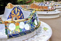 Barcelona - Park Guell, Spain Royalty Free Stock Images