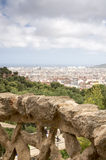 Barcelona from Park Guell , Spain Royalty Free Stock Photos
