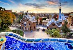 Barcelona, Park Guell, Spain - nobody stock photos