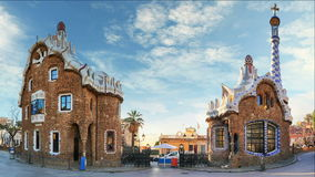 Barcelona, Park Guell, Spain - nobody, Time lapse stock video footage