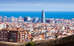 Barcelona from Park Guell. Spain Royalty Free Stock Photos