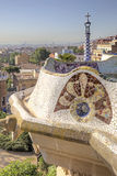 Barcelona. In the Park Guell. Park Guell in Barcelona, Spain. Park was designed by Gaudi and built in 1900 to 1914 Stock Image