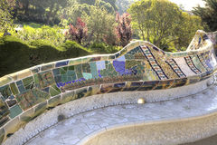 Barcelona. In the Park Guell Royalty Free Stock Photos