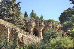 Barcelona. In the Park Guell Royalty Free Stock Photo