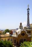 Barcelona Parkera Guell Royaltyfria Bilder