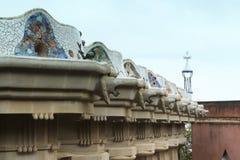 Barcelona parkerar Guell från Gaudi Arkivfoto