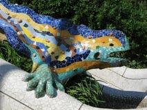 Barcelona: Parque Guell, parque bonito por Gaudi Imagens de Stock Royalty Free